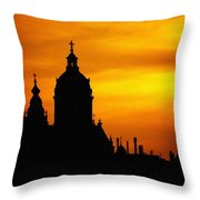 Cathedral Silhouette Sunset Fantasy L B Throw Pillow