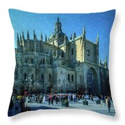 Cathedral, Spain Throw Pillow