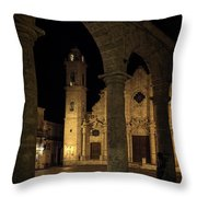 Cathedral Square Havana Cuba Throw Pillow
