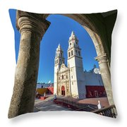 Cathedral Viewed From Balcony Throw Pillow