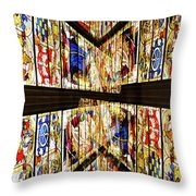 Cathedral Window Montage Throw Pillow