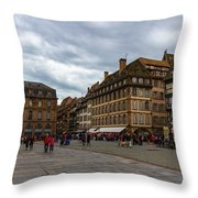 Cathedrale Notre-dame Or Our Lady Place, Strasbourg, France Throw Pillow
