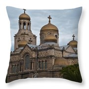 Cathedral,varna,bulgaria Throw Pillow