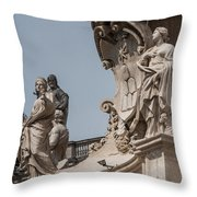 Catherine And Agnes Throw Pillow
