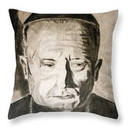 Catholic Cardinal Jozsef Mindszenty Throw Pillow