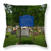 Catholic Cemetery Throw Pillow