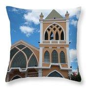 Catholic Church In Ibarra Throw Pillow