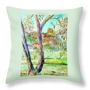 Catkins In The Spring Throw Pillow