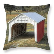 Catlin Covered Bridge  Throw Pillow