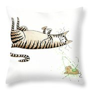 Catnipped  Throw Pillow
