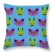 Cats And Rabbits Throw Pillow