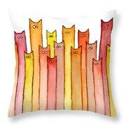 Cats Autumn Colors Throw Pillow
