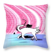 Cats Don't Hang Out With Mice Throw Pillow