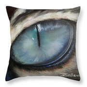 Cat's Eye Throw Pillow