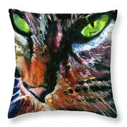 Cats Eyes 11 Throw Pillow