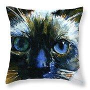 Cats Eyes 13 Throw Pillow