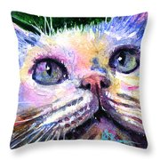 Cats Eyes 2 Throw Pillow