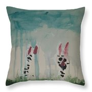 Cats In The Rain Throw Pillow
