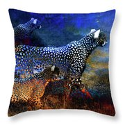 Cats On The Prowl Throw Pillow