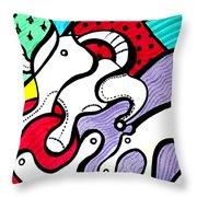 Cat's Visions Throw Pillow