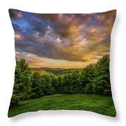 Catskill Sunset Throw Pillow