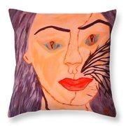 Catt Women Throw Pillow