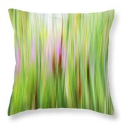 Cattails And Flowers Throw Pillow