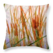 Cattails By The Lake Throw Pillow