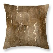 Cattails In Snowstorm 5 Throw Pillow