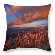 Cattails In The Wind Throw Pillow