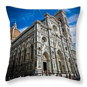 Cattedrale Di Santa Maria Del Fiore Throw Pillow