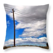 Cattle Chaser Throw Pillow