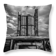 Cattle Chute Throw Pillow