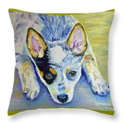 Cattle Dog Puppy Throw Pillow