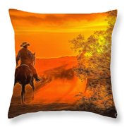 Cattle Drive 45 Throw Pillow
