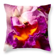 Cattleya IIi Throw Pillow