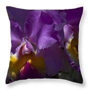 Cattleya Orchid Garden Of Eden Maui Throw Pillow