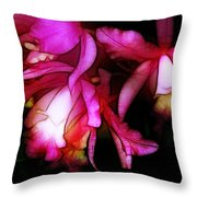 Cattleyas Throw Pillow by Judi Bagwell