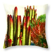 Catus Garden Throw Pillow