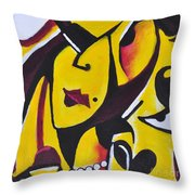 Catwalk, It Is Her Night Throw Pillow by David Weingaertner