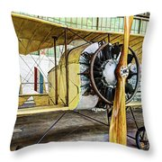 Caudron G3 Propeller And Cockpit - Vintage Throw Pillow