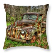 Caught Behind 1947 Ford Stakebed Pickup Truck Art Throw Pillow