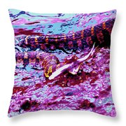 Caught In Neon Throw Pillow