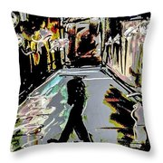 Caught In Rain Throw Pillow