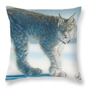 Caught In The Open II Throw Pillow