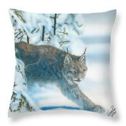 Caught In The Open Throw Pillow