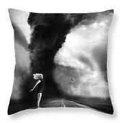 Caught In The Storm Throw Pillow