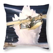 Caught On The Surface Throw Pillow