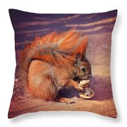 Caught Red Handed Throw Pillow