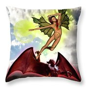Caught Up Throw Pillow